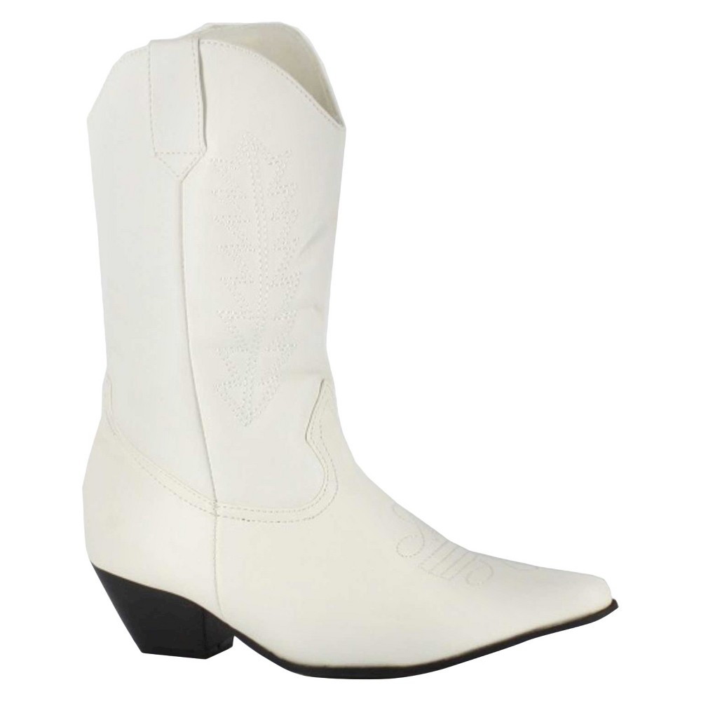 Halloween Girls Rodeo Boots White M(13-1)