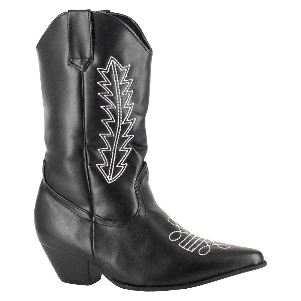 Halloween Girls Rodeo Boots Black L(2/3)