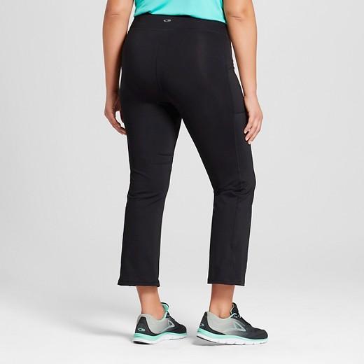 Women's Plus-Size Embrace Crop Flare Capri Black - C9 Champion ...