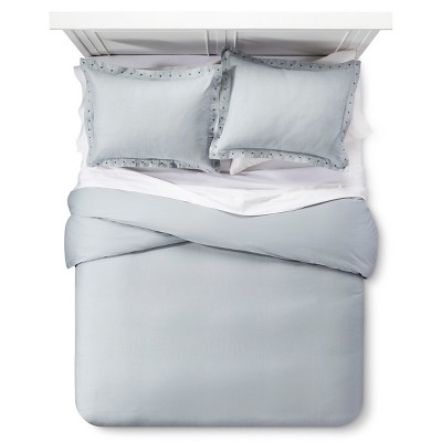Gray Nailhead Duvet Cover Set (King)3pc - The Industrial Shop™