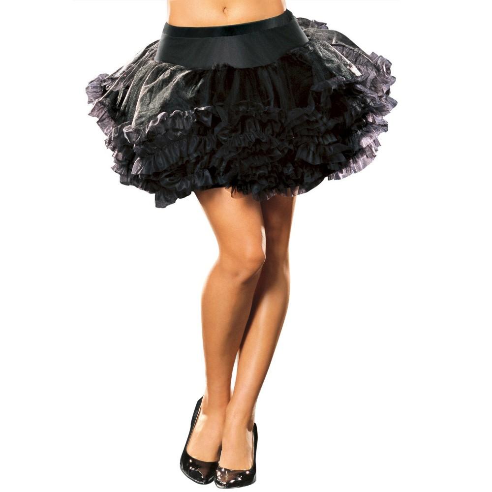 Adult Ursula Petticoat Costume Black, Womens
