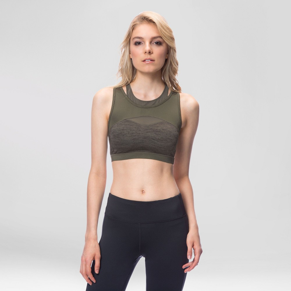 Women's Mesh Layer Sports Bra Kale XL – Velvet Rose, Green