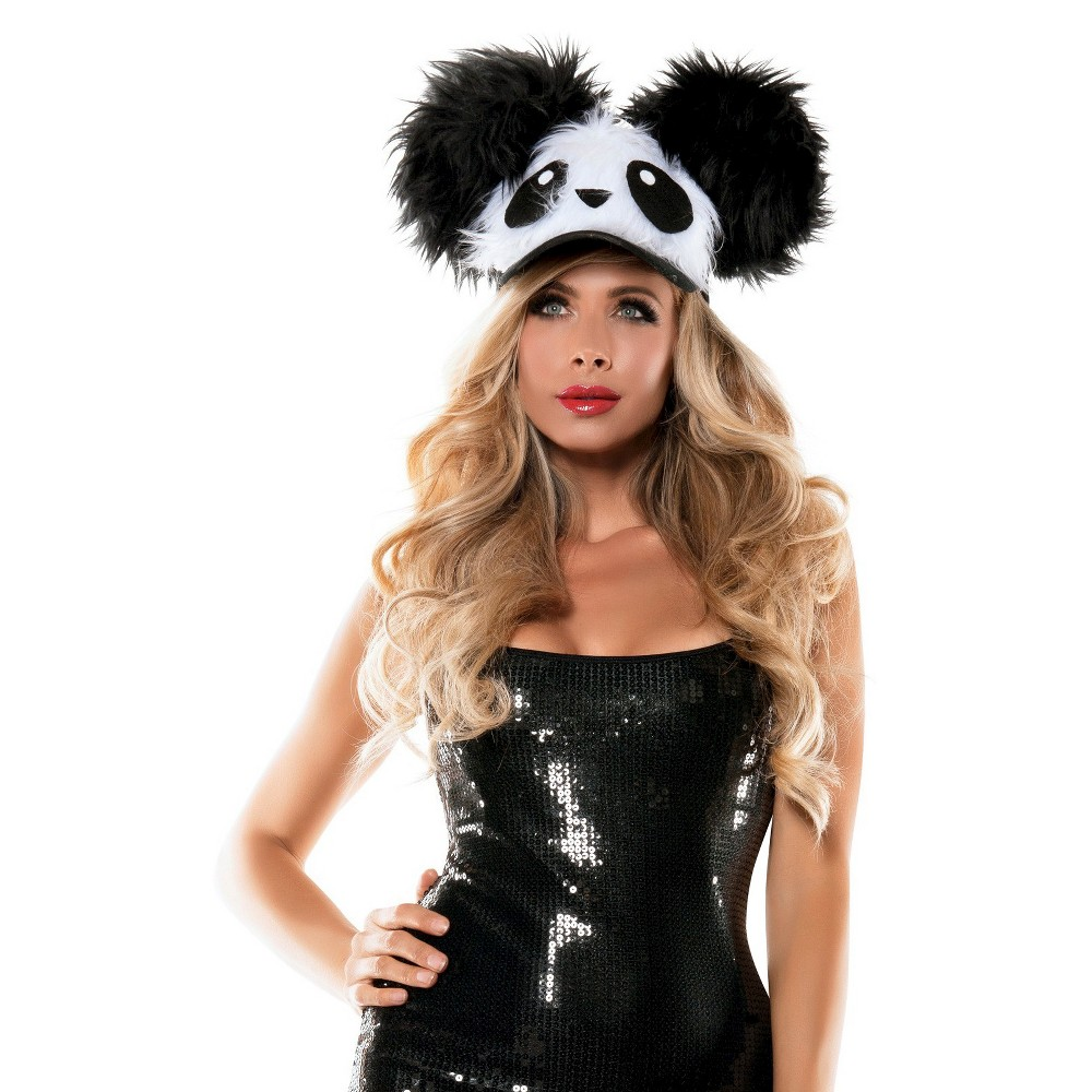 Halloween Panda Fuzzy Hat, Womens, Multi-Colored