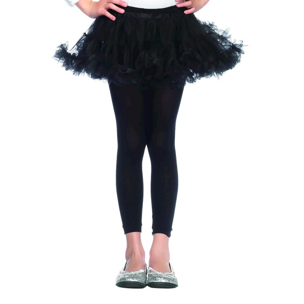 Kids Petticoat Costume Black S/M, Girls