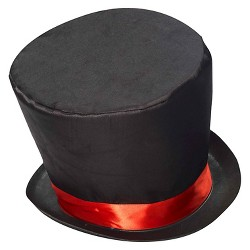 Halloween Mad Hatter Top Hat Black