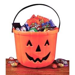 "Halloween 8"" Pumpkin Treat Bucket"