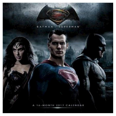 Batman V Superman - Dawn of Justice 2017 Calendar (Paperback) - image 1 of 2