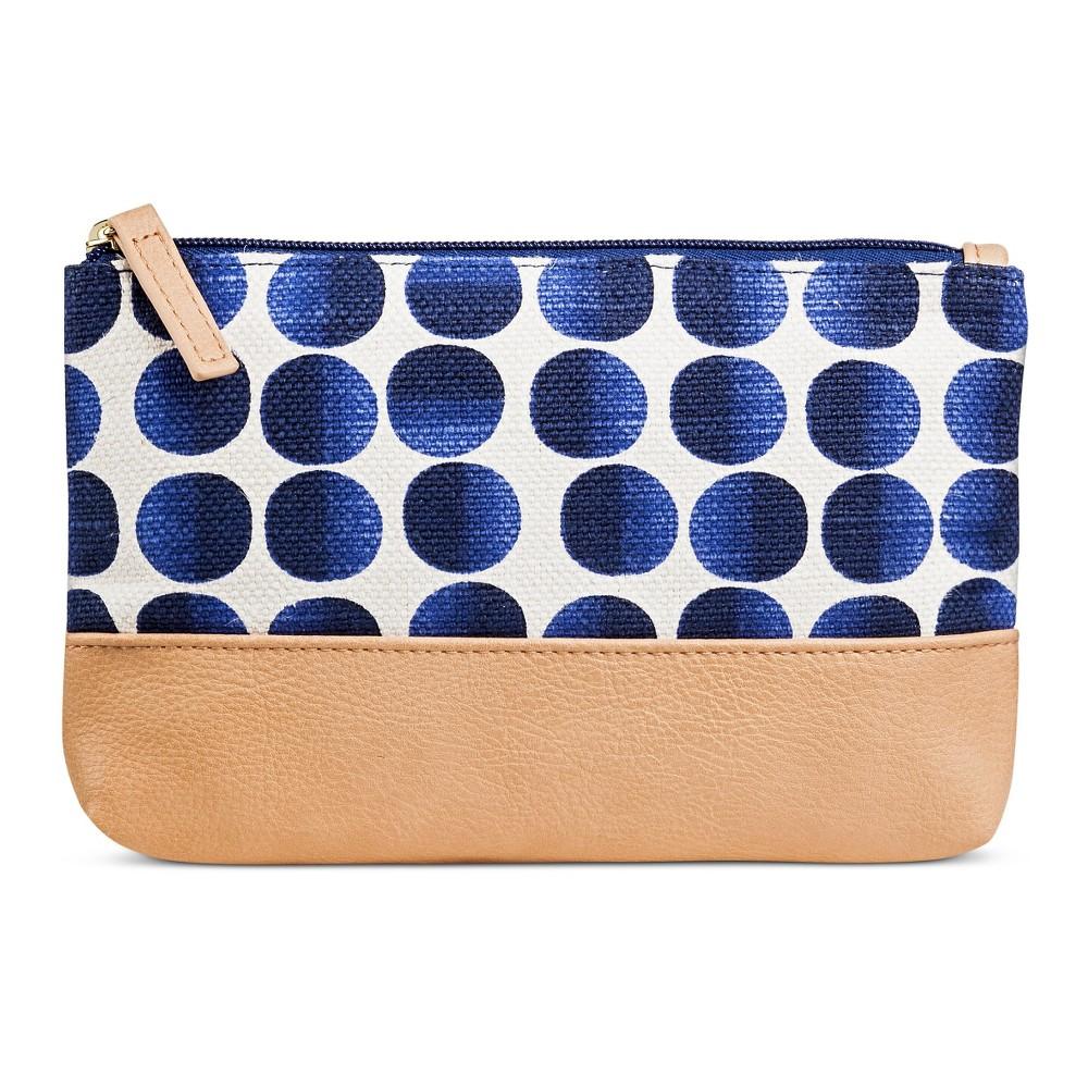 Women's Small Pouch Blue Polka Dot - Merona