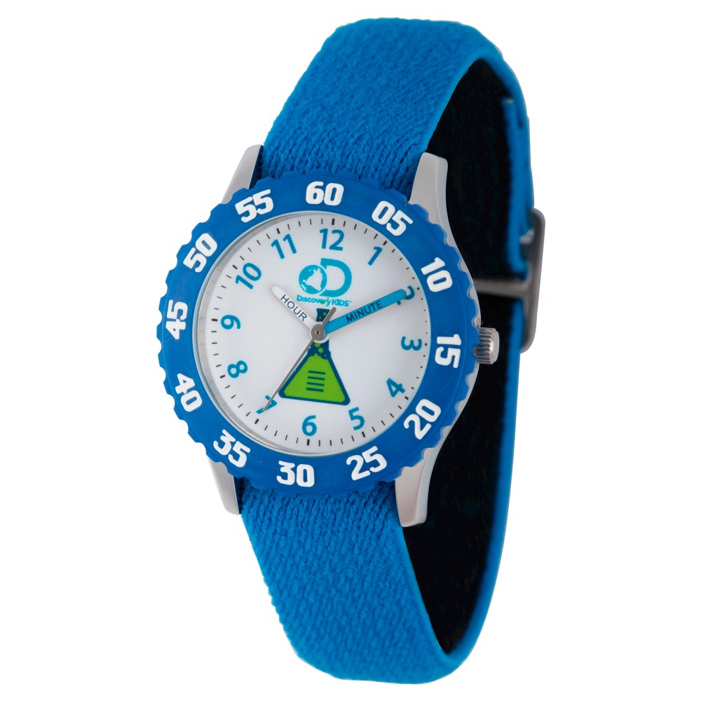 Boys Discovery Channel Stainless Steel Time Teacher Watch - Blue