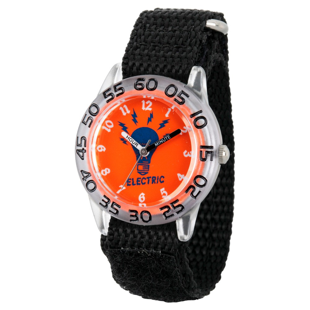 Boys Discovery Channel Clear Plastic Time Teacher Watch - Black