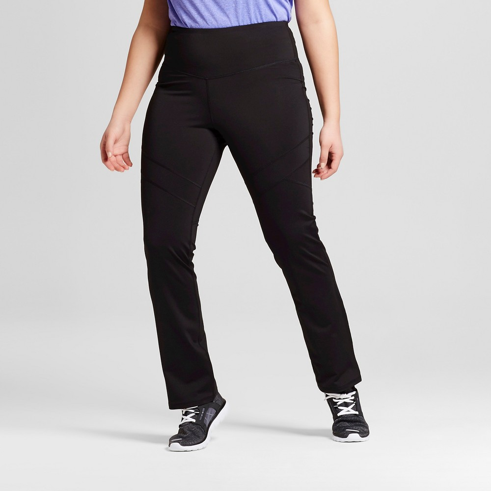 Womens Plus-Size Embrace Skinny Leg Yoga Pants - C9 Champion Black 4X