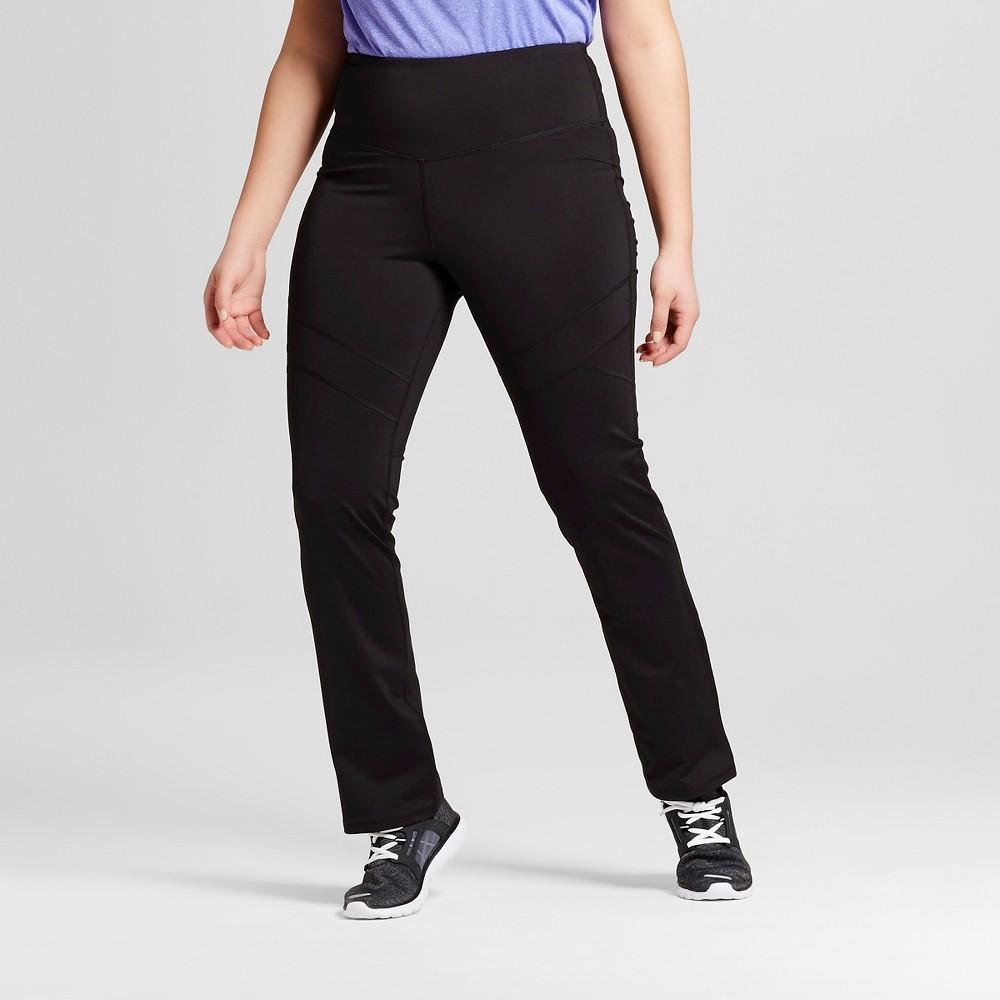 Womens Plus-Size Embrace Skinny Leg Yoga Pants - C9 Champion Black 1X