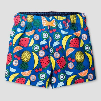 Baby Boys' Fruit Print Swim Trunk Cat & Jack™ - Blue 12M