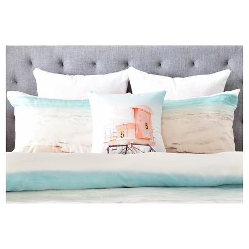 Bree Madden Ombre Beach Pillow Sham Blue: - Deny Designs : Target