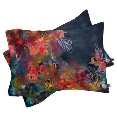 Stephanie Corfee The Bursting Heart Floral Pillow Shams (King) Blue Floral 2 pc - DENY Designs