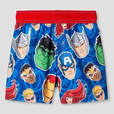 Toddler Boys' Avengers Justice League® Swim Trunk - Royal Blue 2T