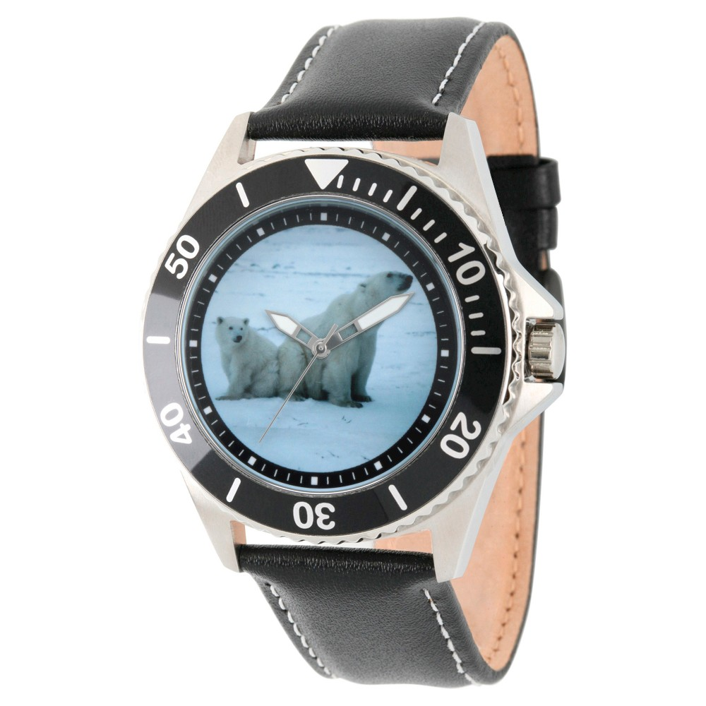 Mens Discovery Channel Animal Planet Honor Stainless Steel Watch - Black