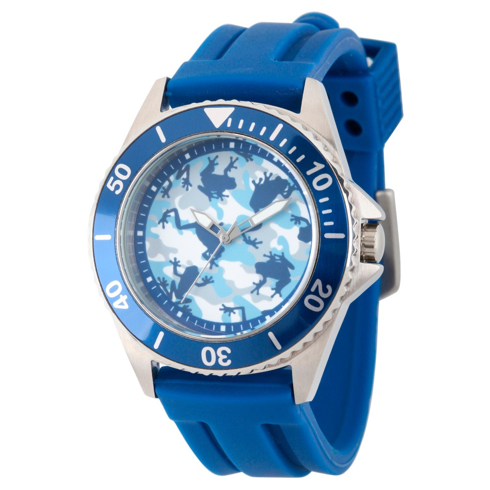 Mens Discovery Channel Animal Planet Honor Stainless Steel Watch - Blue