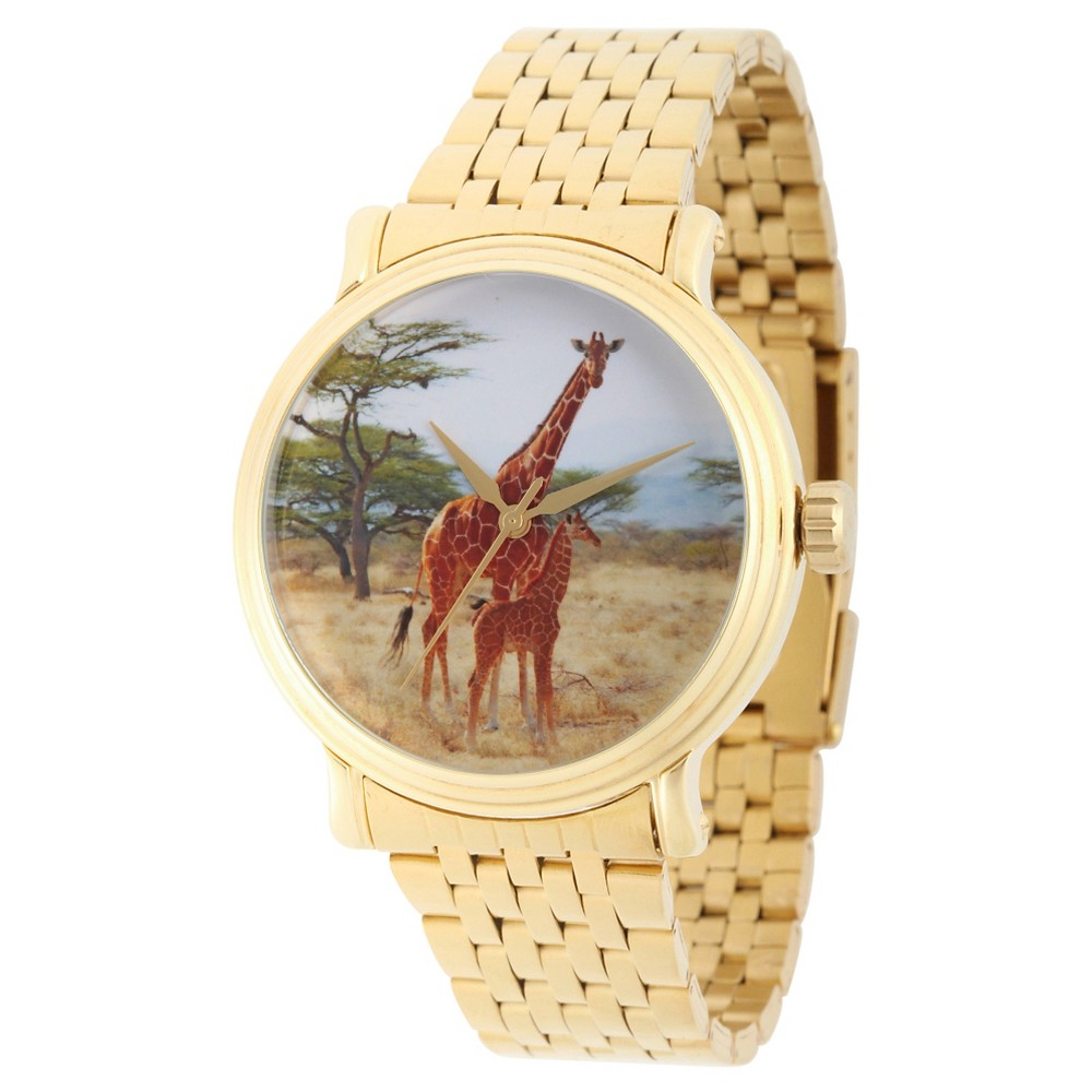 Mens Discovery Channel Animal Planet Gold Vintage Alloy Watch - Gold