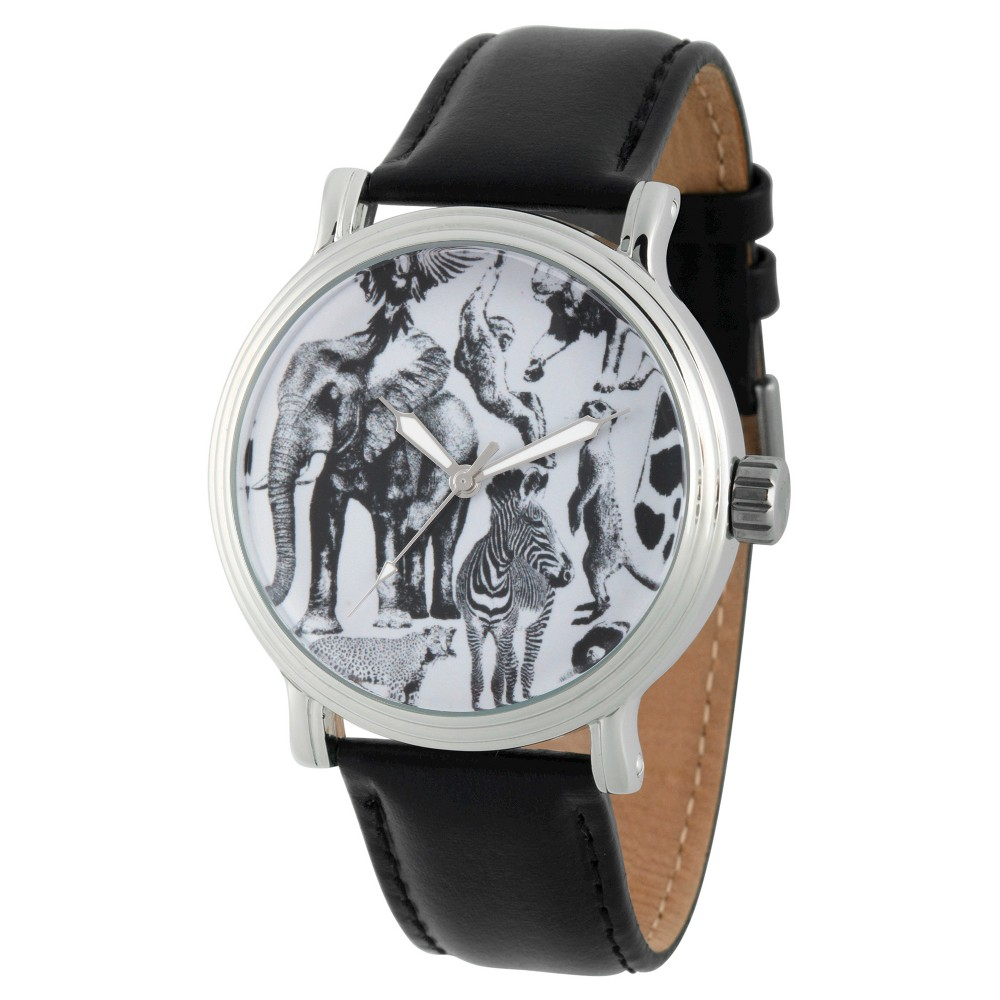 Mens Discovery Channel Animal Planet Silver Vintage Alloy Watch - Black
