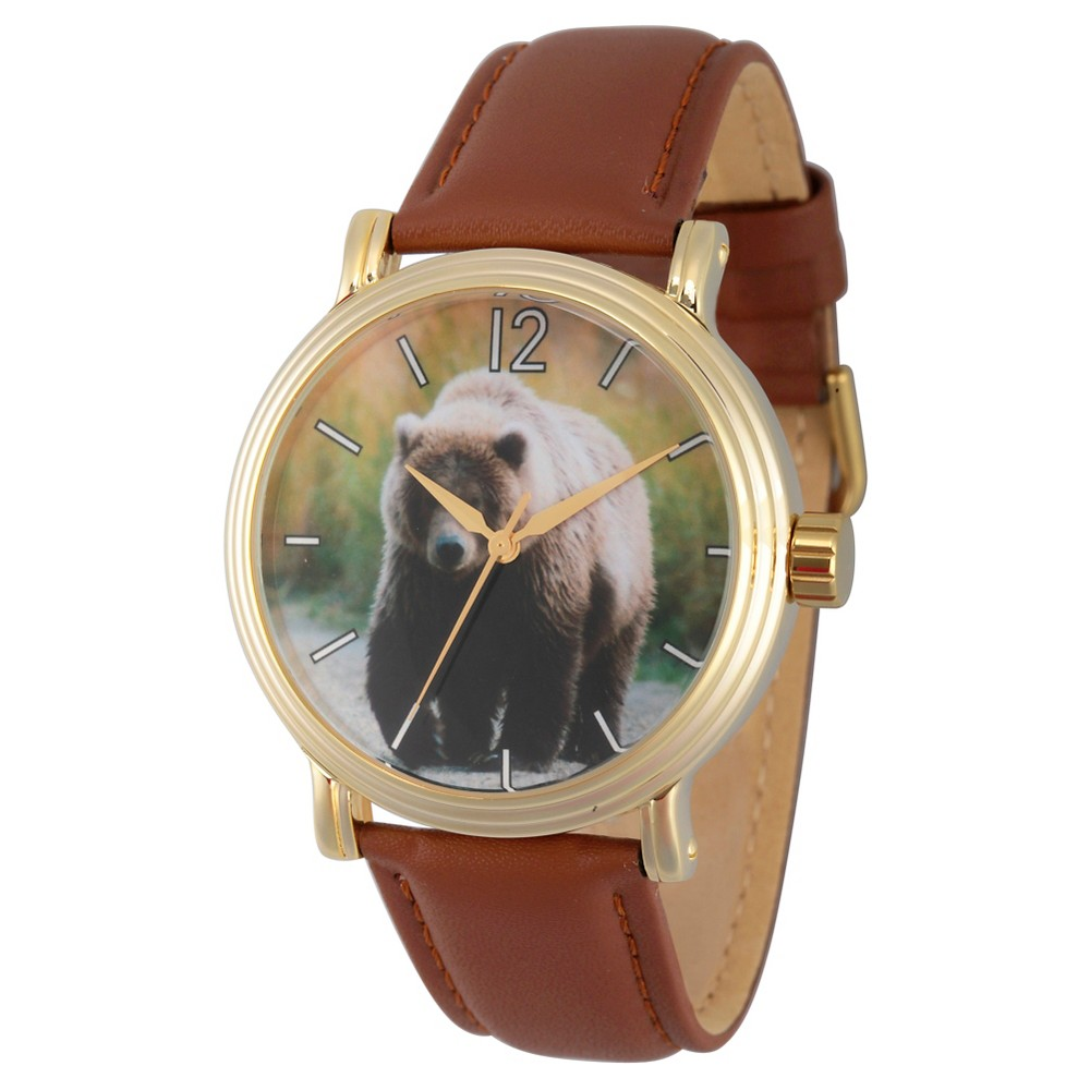 Mens Discovery Channel Animal Planet Gold Vintage Alloy Watch - Brown