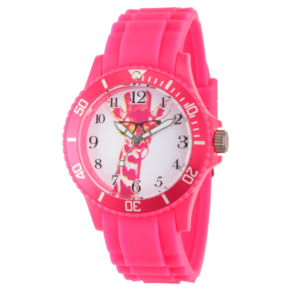 Womens Discovery Channel Animal Planet Plastic Watch - Pink