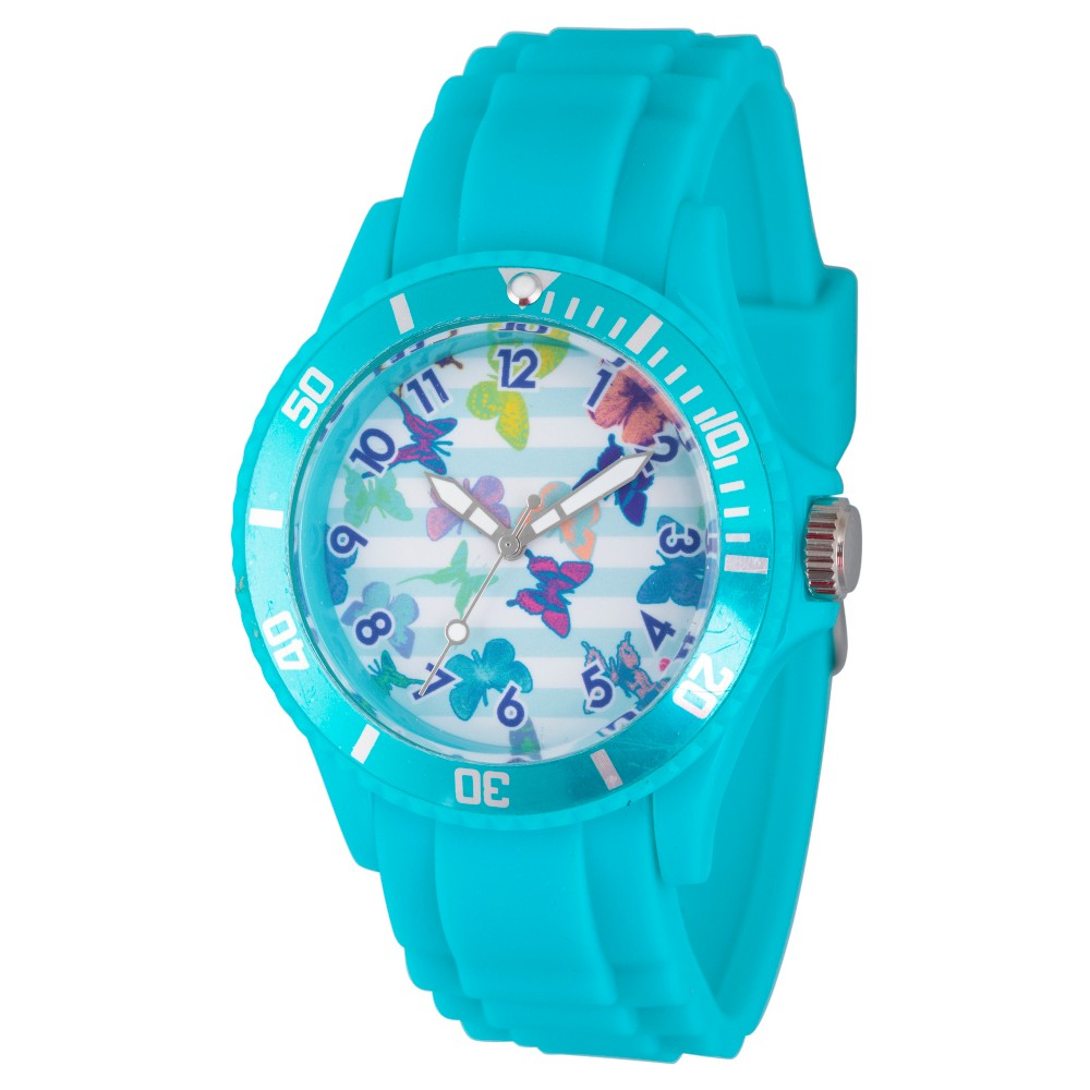 Womens Discovery Channel Animal Planet Plastic Watch - Blue