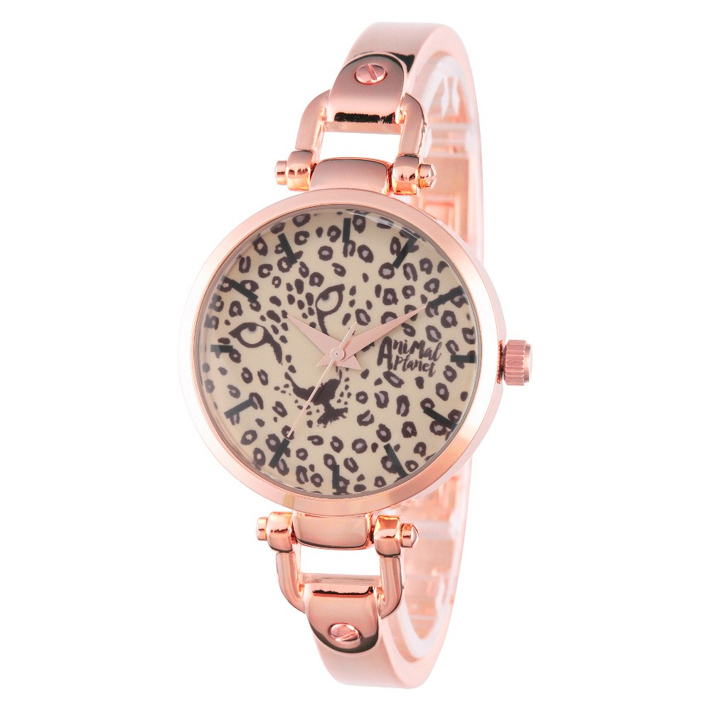 Womens Discovery Channel Animal Planet Rose Gold Alloy Bridle Watch - Rose Gold, Bright Gold