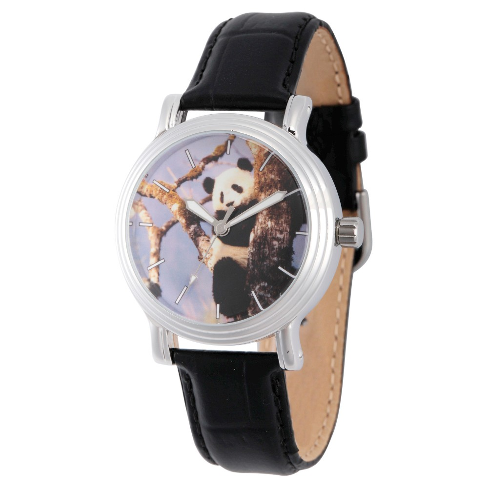 Womens Discovery Channel Animal Planet Silver Vintage Alloy Watch - Black