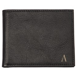 Monogram Bi-fold With Multi-Function Tool Groomsmen Gift Black Wallet