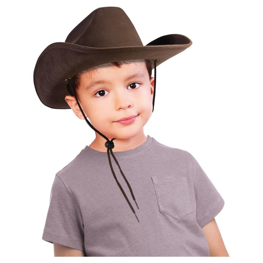 Halloween Child Cowboy Hat Brown - One Size Fits Most, Kids Unisex