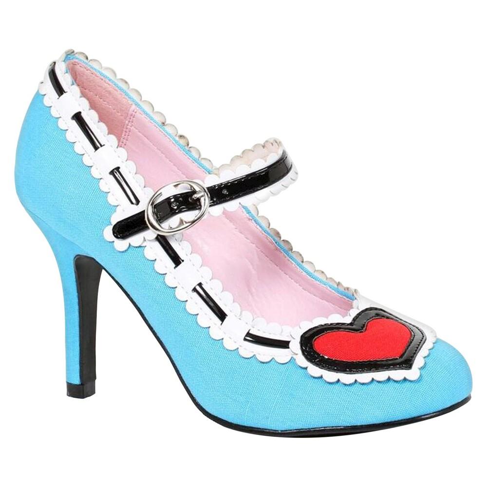 Halloween Alice Womens Heels - Size 9, Blue