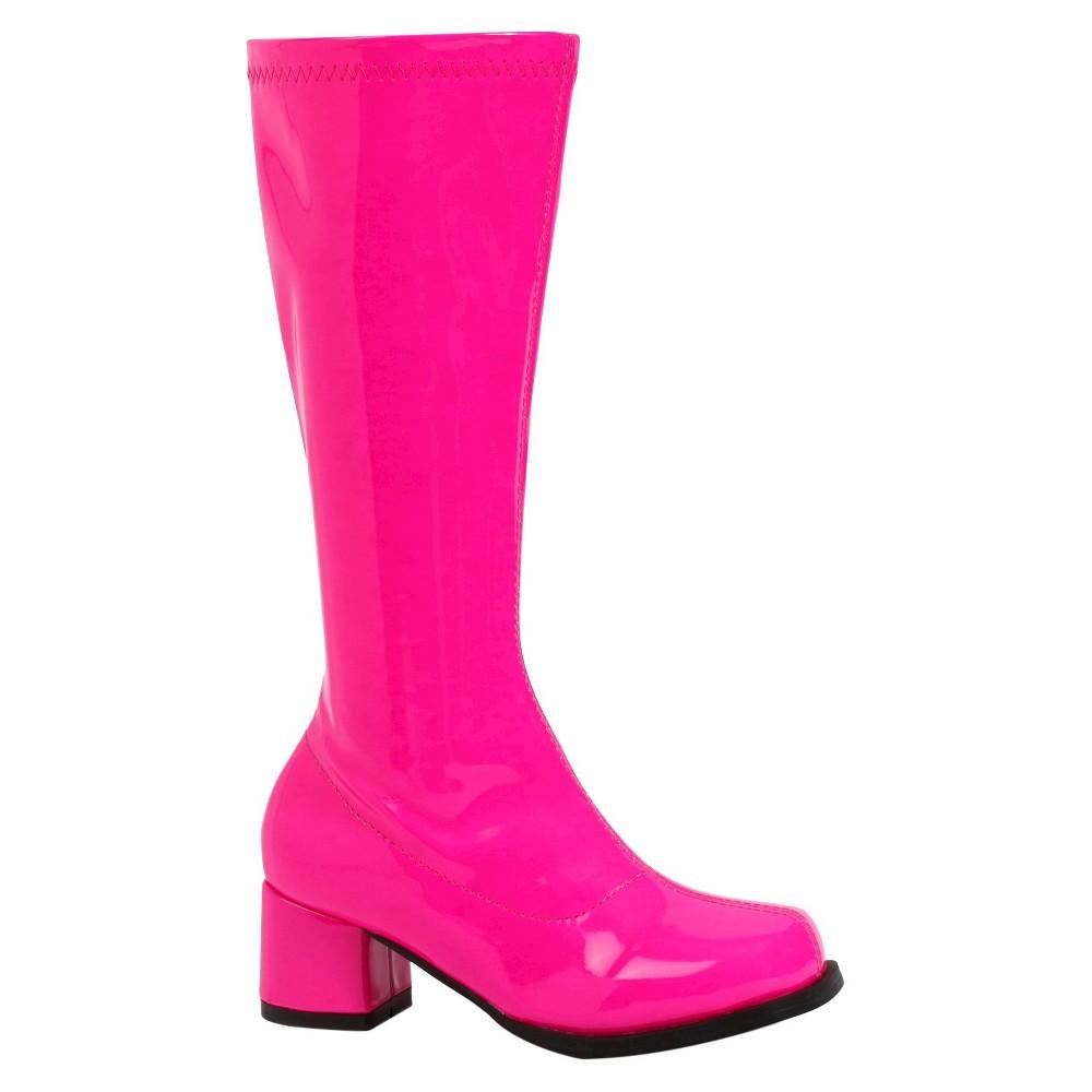 Halloween Girls Gogo Boots Fuchsia L(2/3), Pink