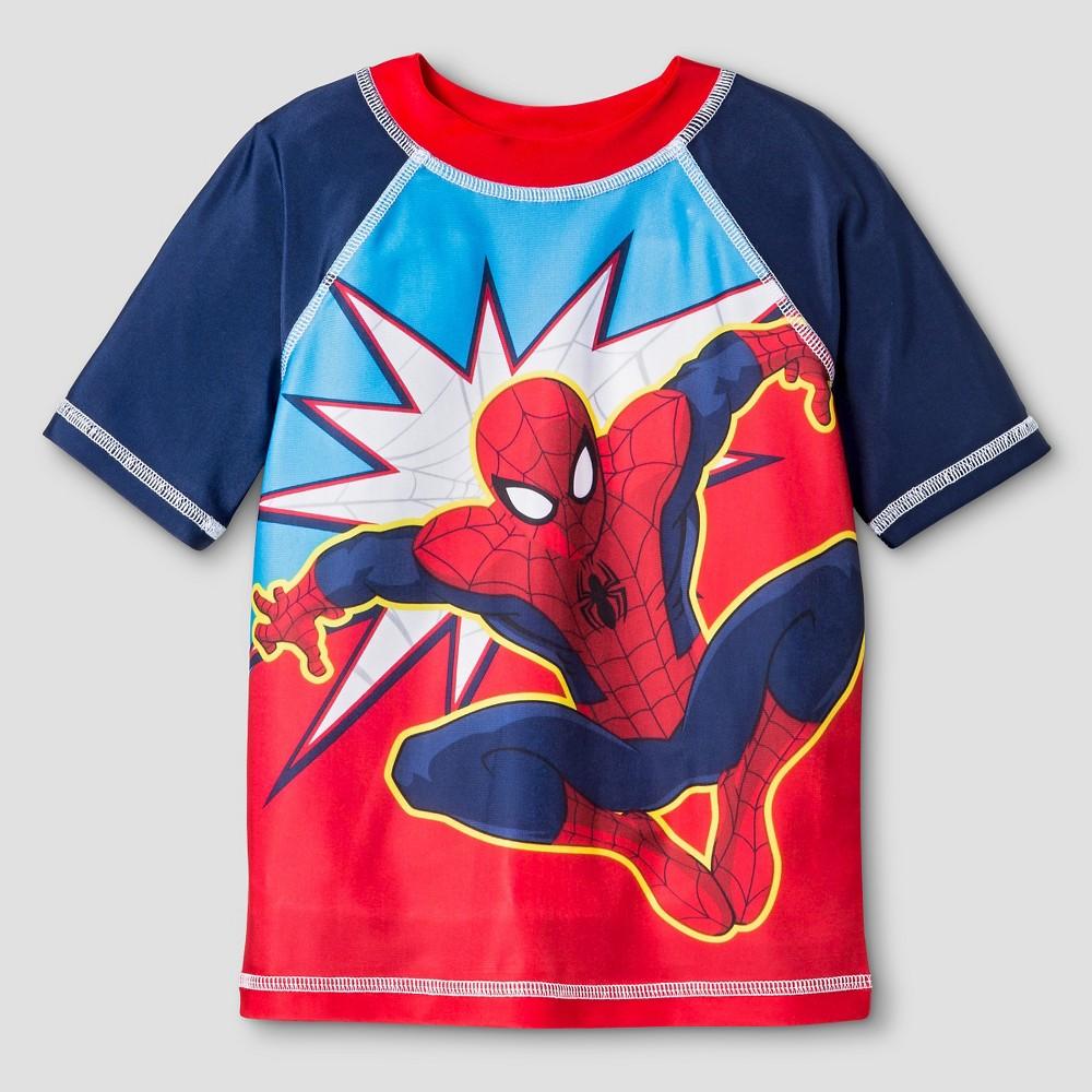 Toddler Boys' Spider-Man Rash Guard - Red 5T