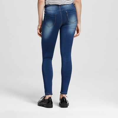 Women's Drop Yoke Skinny Jeans Dark Blue 9 - Vanilla Star (Juniors')