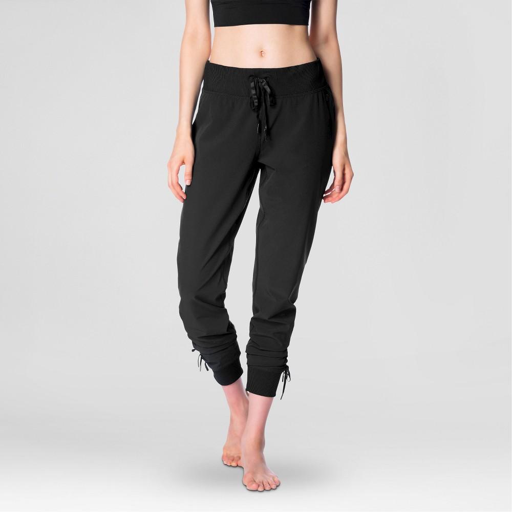 Womens Stretch Woven Pants Black L - Velvet Rose