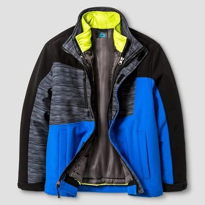 Rbx Boys' 3-1 Softshell System Jacket XL - Black/Grey, Boy's, Blue