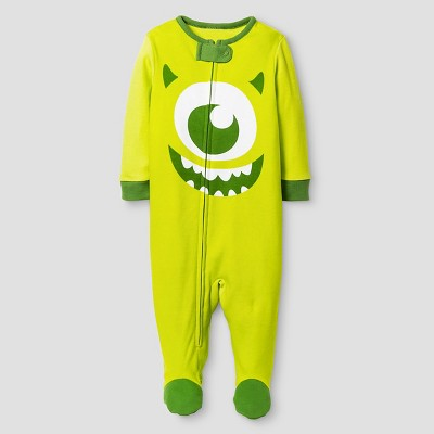 Baby Boys' Disney® Monster's Inc. Footed Sleeper - Lime 3-6M