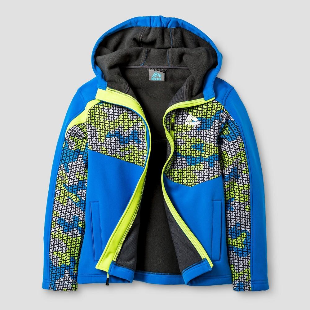 Rbx Boys Softshell Tech Jacket Camo Print XL - Blue