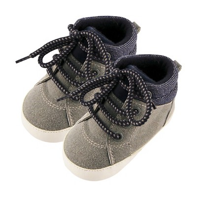Baby Boys' Rising Star Denim Trim High Top Sneaker Crib Shoes Blue 6-9M