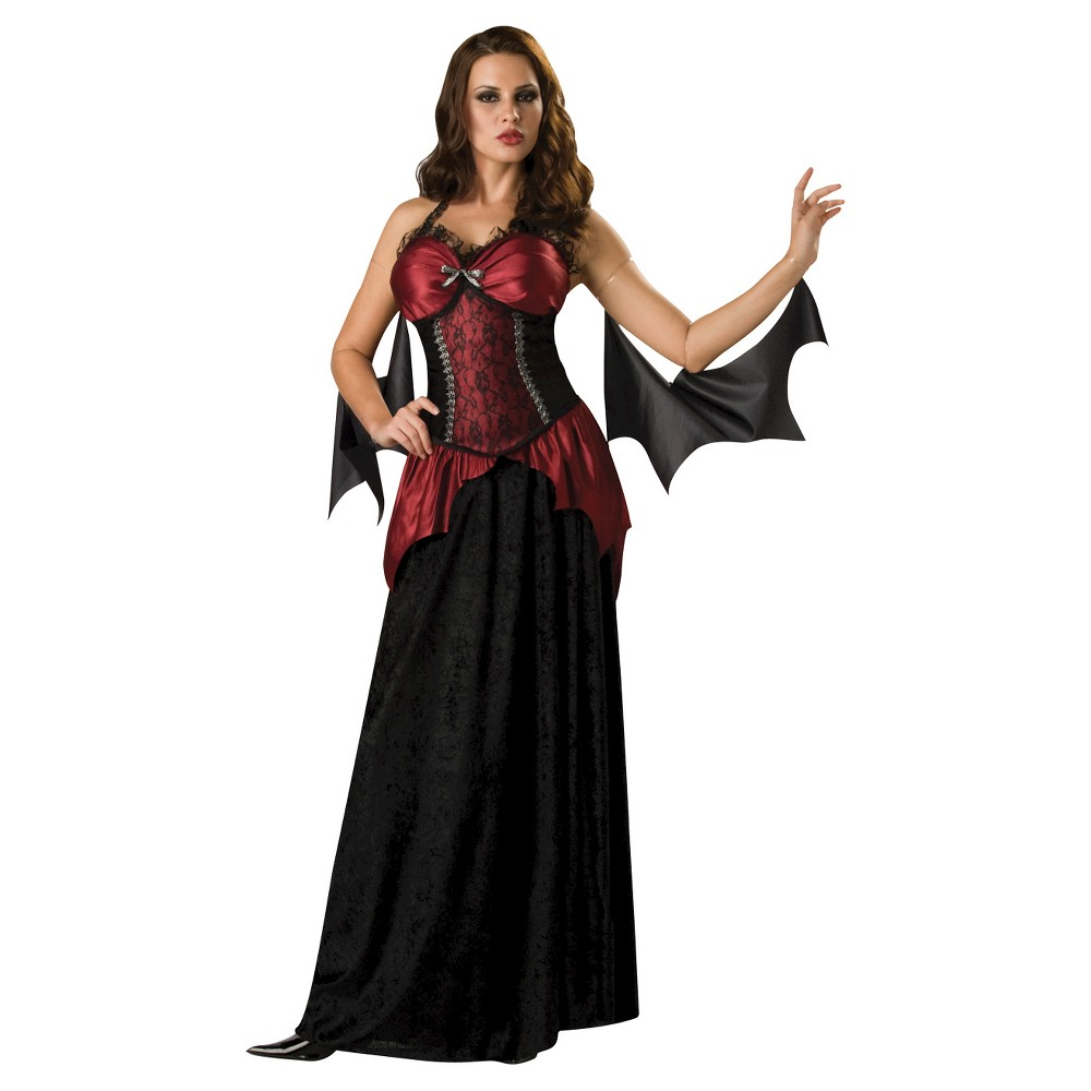 Womens Vampira Costume Medium, Multicolored
