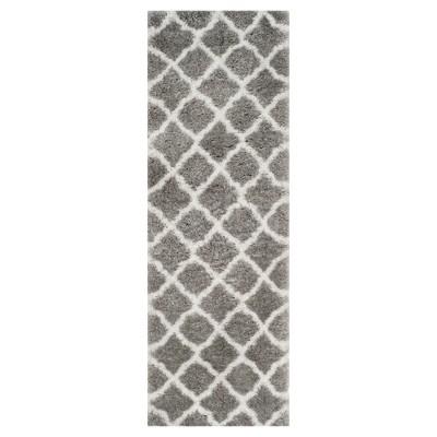 Indie Shag Rug - Gray/Ivory - (2'3 X7')- Safavieh