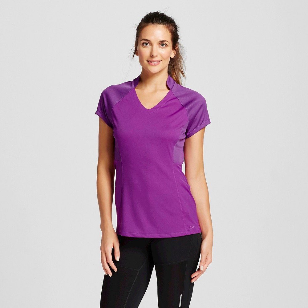 Womens Golf Shorts Sleeve Top - C9 Champion Plum Dream Heather XS