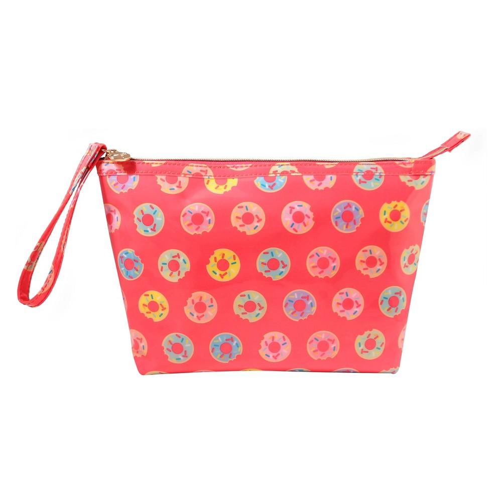 Dabney Lee Doughnuts Clutch Makeup Bag, Diva Pink