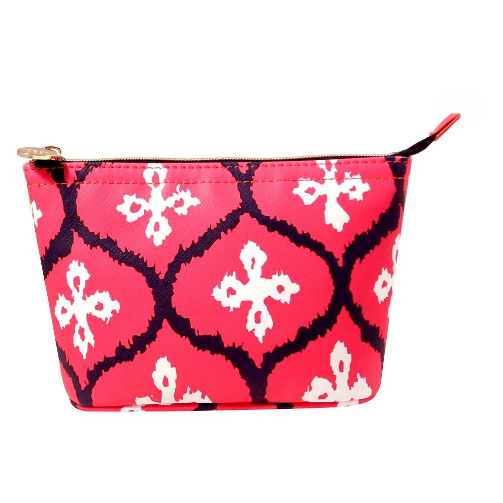 Dabney Lee Pink Ikat Pouch Makeup Bag, Dark Pink