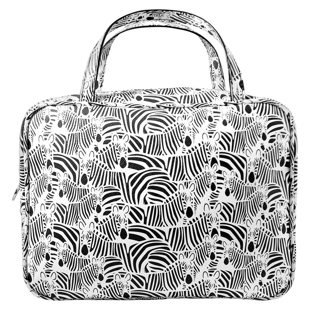 Dabney Lee Zebra Weekender Makeup Bag, Multi-Colored