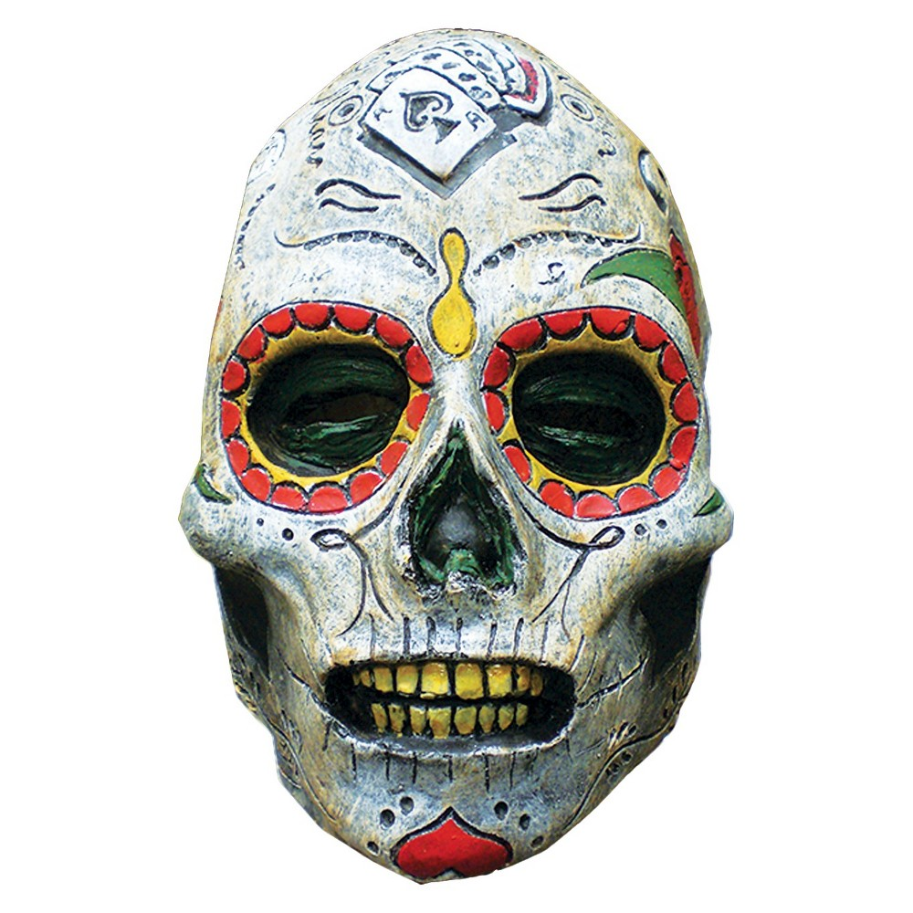 Day Of The Dead Zombie Latex - One Size Fits Most, Mens, Multi-Colored