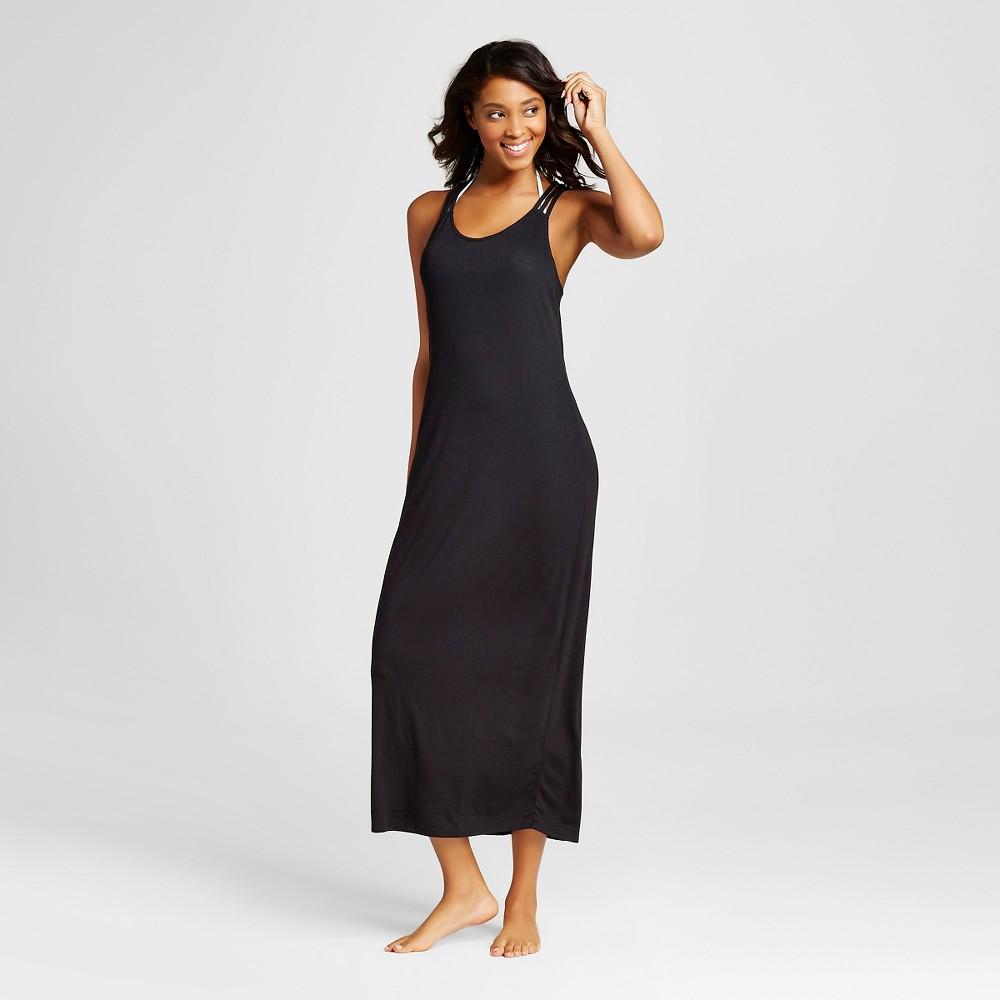 Womens Strappy Back Maxi Swim Cover Up Dress - Xhilaration Black M
