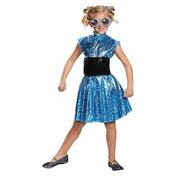 Girls' Powerpuff Bubbles Deluxe Costume