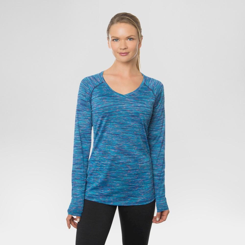 Women's Long Sleeved V-Neck T-Shirt Blue S - Rbx